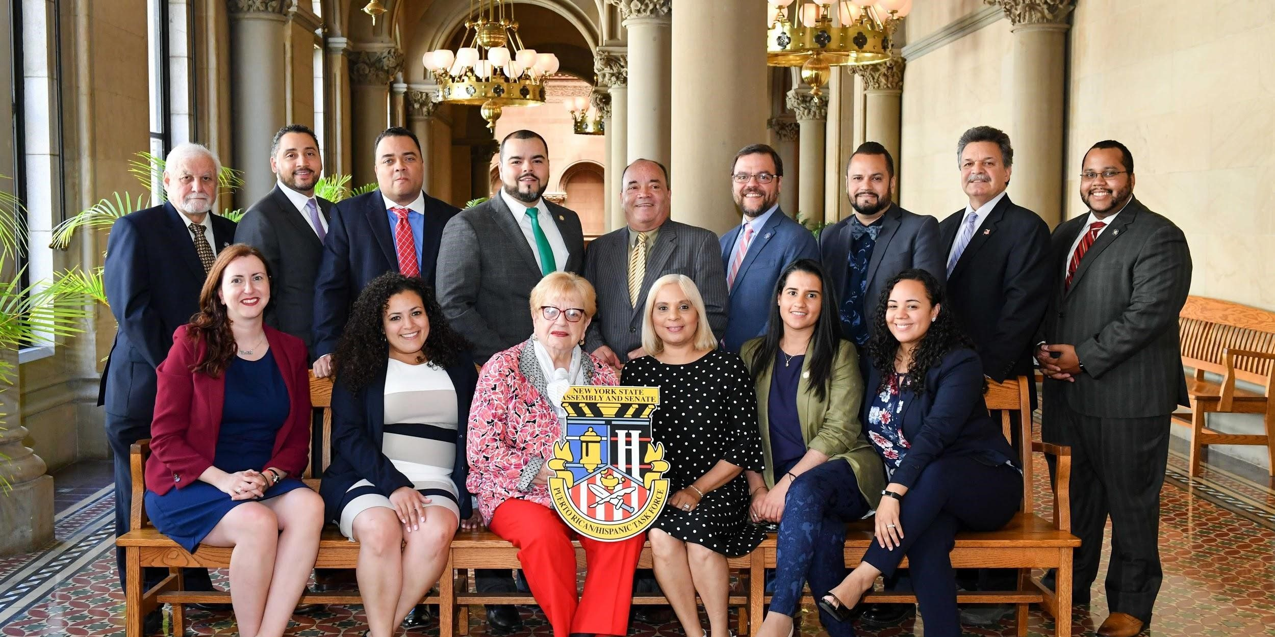 New York State Assembly / Senate Puerto Rican / Hispanic Task Force end of session photo in Senate Gallery. June 19, 2018